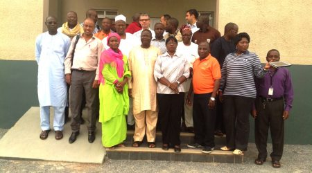 Picture of SARD-SC staff and AfDB officials during the visit to IITA, Ibadan, Nigeria.