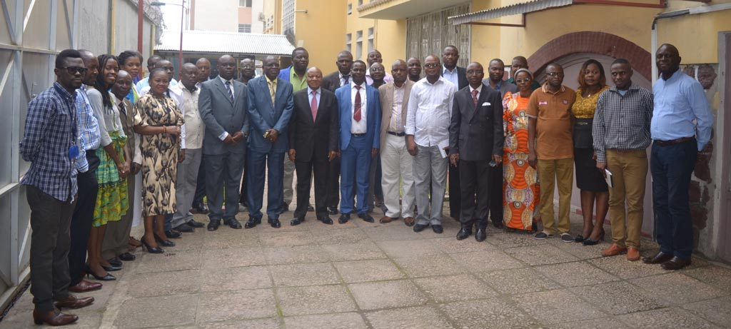 Picture of Participants of the biostatistics course and IITA staff in Kinshasa after the opening ceremony with the DRC Minister of Agriculture Representative