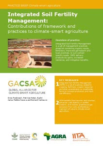 Integrated Soil Fertility Management: Contributions of framework and practices to climate- smart agriculture