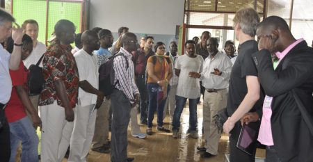 Picture of Biomass Web group visit IITA facilities, including cassava processing center, BIP, Agripreneurs; and ILRI outstation.