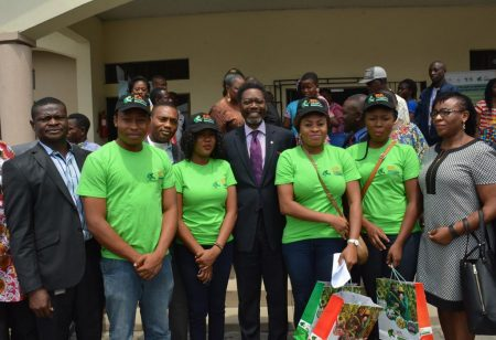Picture of CNL General Manager Deji Haastrup with IITA Youth Agripreneurs.