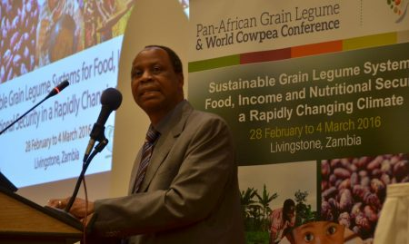 Picture of the Joint Pan-African Grain Legume and World Cowpea Conference was officially closed by Julius Shawa, Permanent Secretary of Zambia's Ministry of Agriculture.