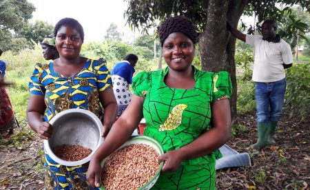 Picture of Women farmers benefit from legume production and technologies.