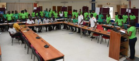 Picture of Youth Agripreneurs undergo training in agribusiness management in IITA