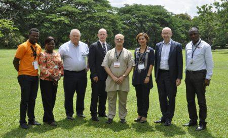Picture of L-R: Dare Odusanya, Winifred Akinpelu, Patrick Boyle, H.E. Ambassador Seán Hoy, DDG Kenton Dashiell, Katherine Lopez, David Butler, and Layi Olatunji.