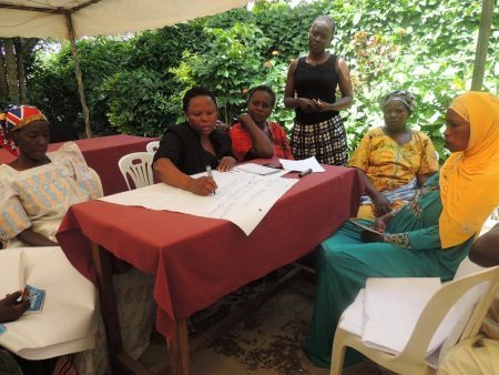 Picture of A group of women in group work during one of the feedback workshops.