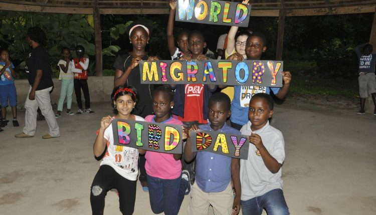 Picture of Pupils from the IITA International School participate in celebrating World Migratory Bird Day in Ibadan.
