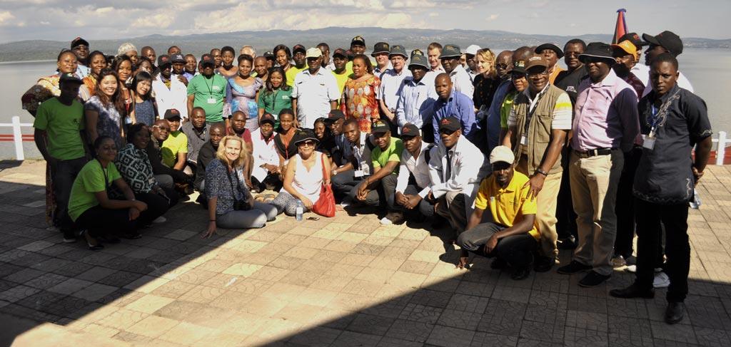 Picture of IITA Kalambo staff with IITA Board of Trustees during the BOT meeting held in Kalambo, DRC