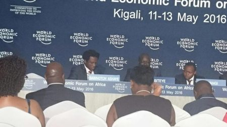 Photo at World Economic Forum Africa Annual Meeting, Kigali, Rwanda.