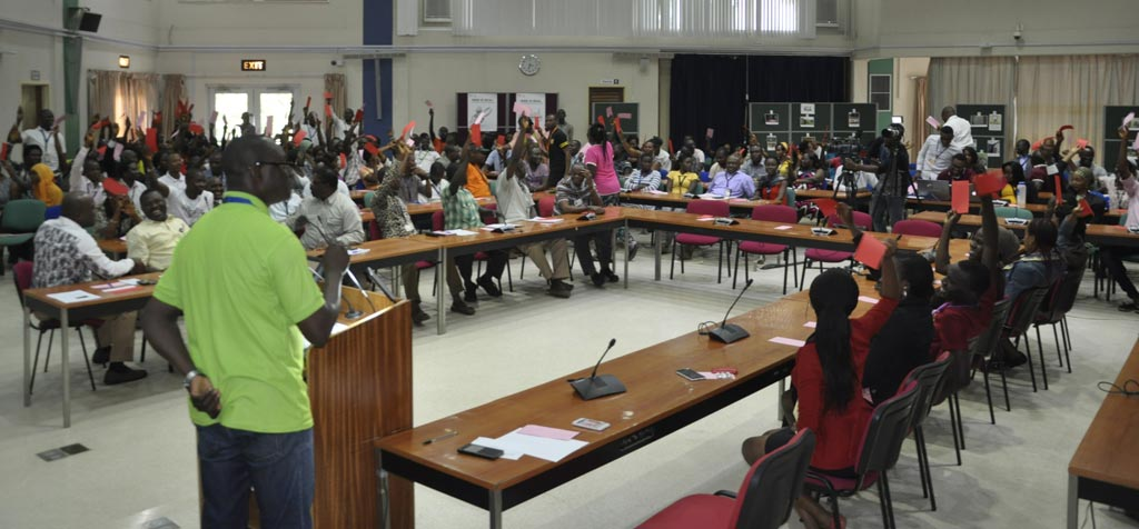 Picture of The IITA community in Ibadan actively participated in the first-ever debate on risks.