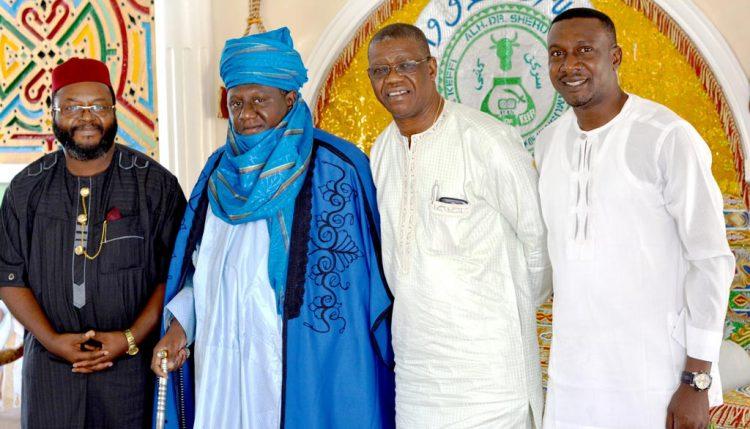 Picture of Hon John Abraham Godson, former Polish MP; Emir of Keffi, Alhaji Dr Shehu Chindo, Yamusa III; Gbassey Tarawali, IITA Abuja Representative; and Obinna Chukwuezie, IITA Communication Officer.