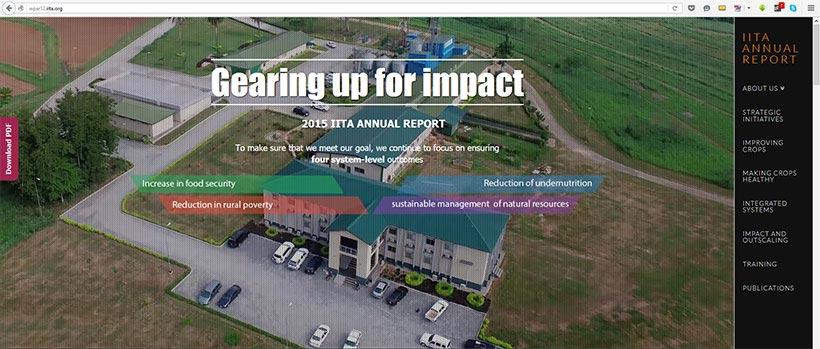 Picture of IITA Annual report 2016
