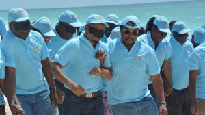 Picture of staff of the SA Hub during team building exercise