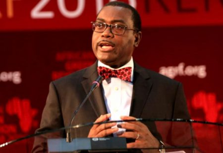 Picture of AfDB President Akinwumi Adesina made history as the first Nigerian president of the AfDB group.