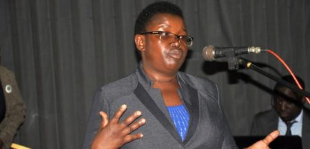 Picture of IITA's Edidah Ampaire highlight's the role of women in climate change adaptation issues.