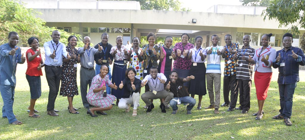 Picture of IITA Communication and Knowledge Management staff in Ibadan.