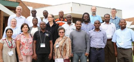Picture of Participants who took part in the Africa RISING training on farming systems research design