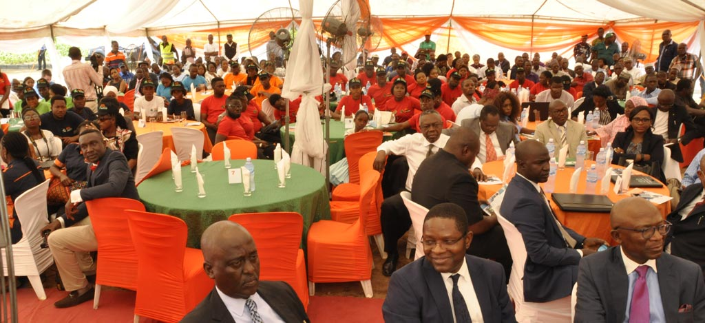 Picture of Agripreneurs from the various Nigeria locations and guests from AfDB and partners based in Abuja listen to AfDB President Akinwumi Adesina's talk.