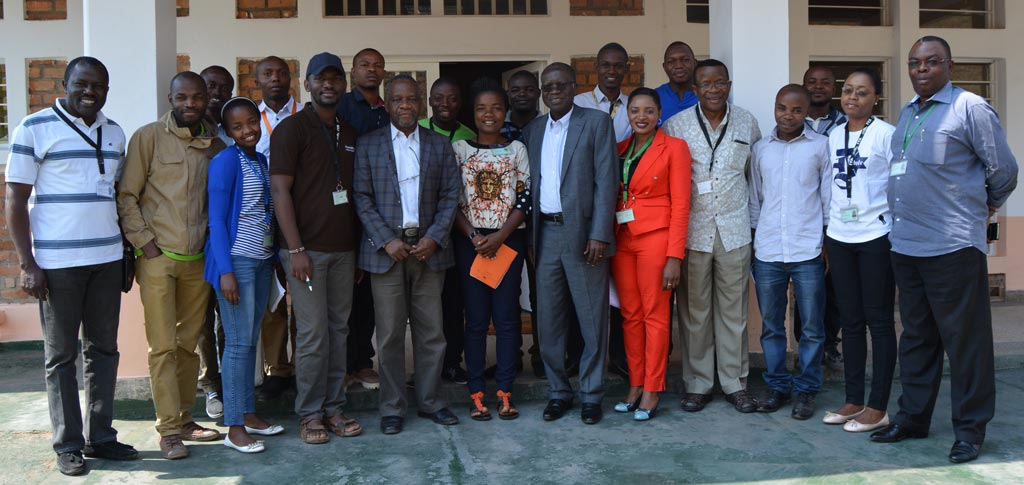 Picture of Prof Kadiata (5th from left) in a group picture with IITA scientists and IKYA members.