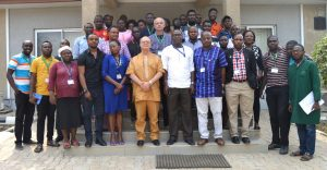 Picture of DDG Dashiell in Abuja with members of staff.