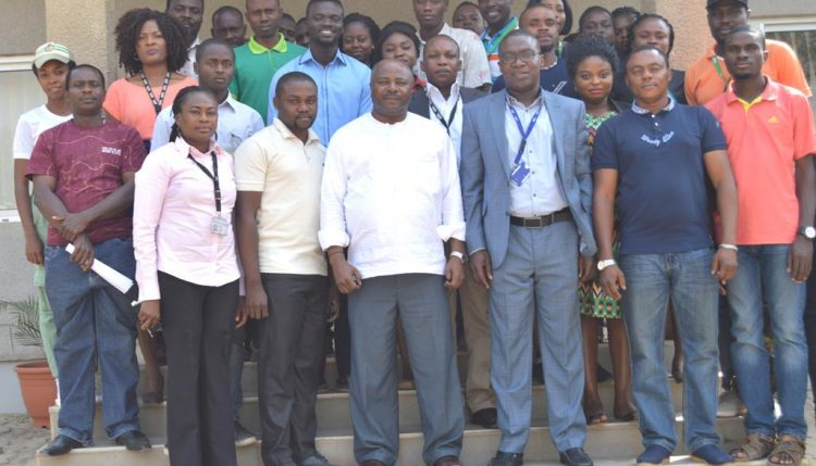 Picture of DG Sanginga with the Abuja team.