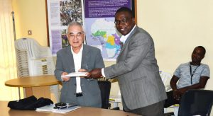 Picture of The IITA Station in Abuja hosted Mitsuhiko Ota, the Advisor, Business Planning Division of the Business Planning Department, NTC-Japan
