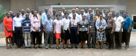 Picture of Group photo of members of the new Data Information and Management Unit in Ibadan.