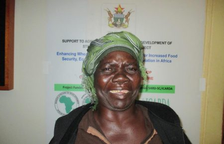 Picture of Sabina Nyahuye - female wheat farmer.