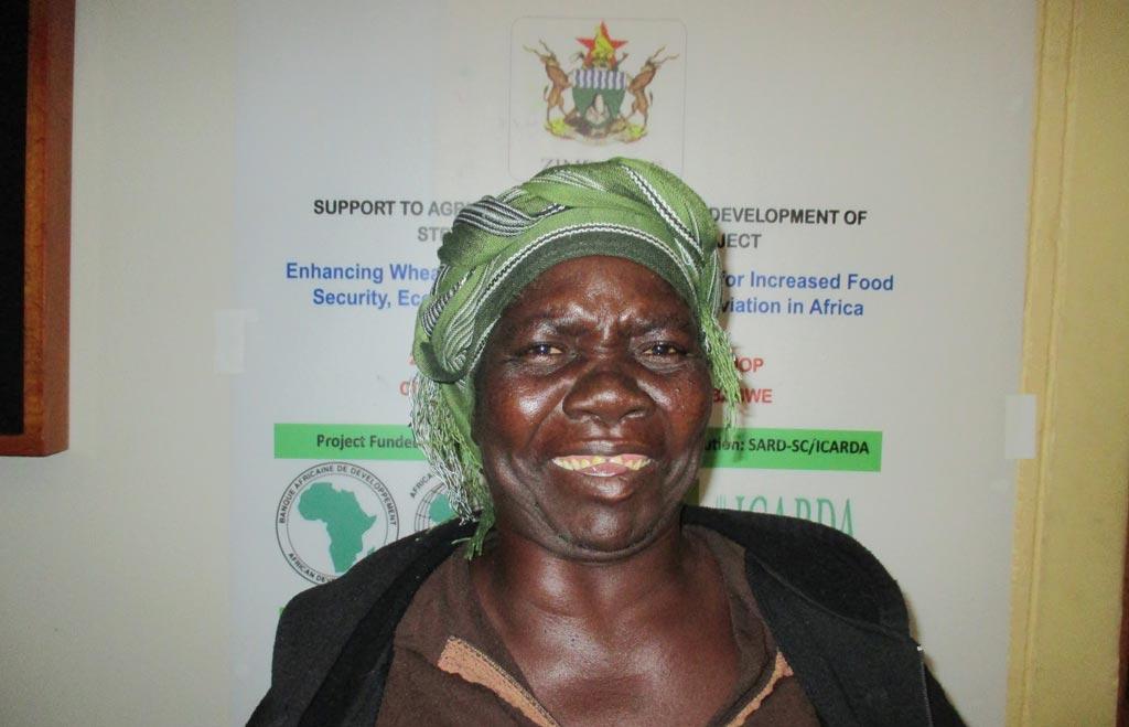 Picture of Sabina Nyahuye - female wheat farmer.