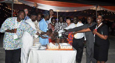 Picture of Happy 50th birthday IITA! – Cutting cake to mark IITA's 50th anniversary.
