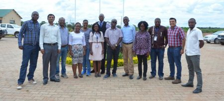 Picture of Breeding Management System training participants in Zambia.