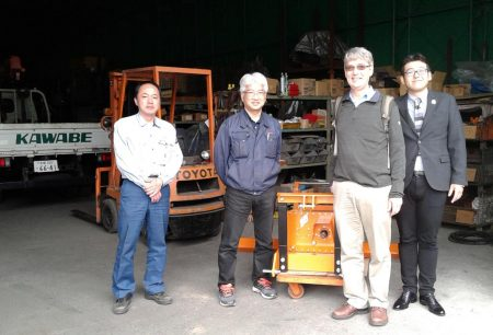 Picture of IITA scientists at the factory