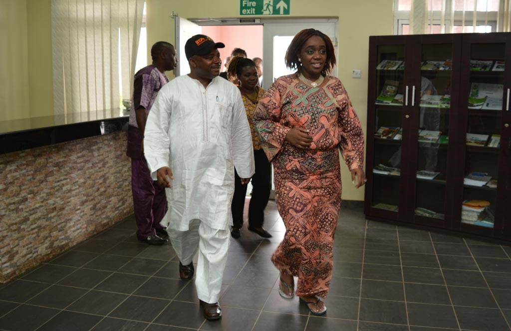 Picture of DG Sanginga takes Finance Minister Kemi Adeosun to visit the Agripreneurs.