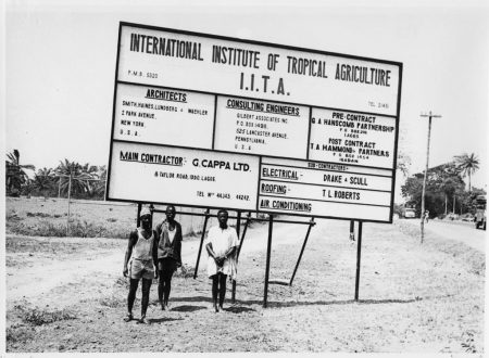 Picture of IITA sign in 1967