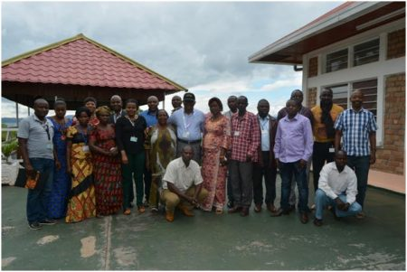 Picture of the participants pose with the Station OIC Chris Okafor (center, wearing a cap) after the workshop.