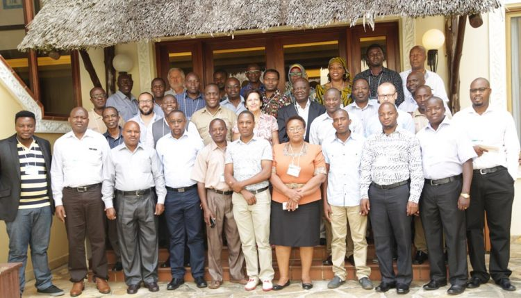Picture of Africa RISING – NAFAKA project partners pose for a group photo during the end-of-phase meeting. Photo by Gloriana Ndibalema, IITA.