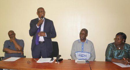 Picture of IITA Abuja Station Head, Dr Gbassey Tarawali, welcomes Burkina Faso Ambassador and his spouse to IITA.