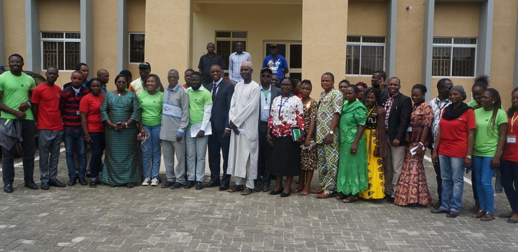 Picture of Burkina Faso Ambassador with IITA Abuja staff led by Head of Station, Gbassey Tarawali.