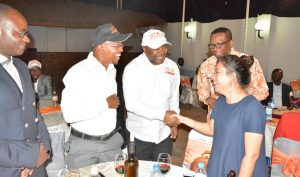 Picture of DG Sanginga accompanied by Chris Okafor OiC, went round welcoming all to the event.