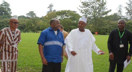 Picture of DG Nteranya Sanginga (left) and Kebbi Governor Alhaji Abubakar Atiku Bagudu.