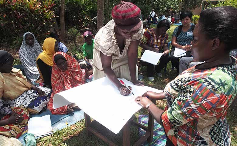 Picture of female focus group discussion in Bulabakulu Village in Zirobwe Sub-county, Luwero District in Central Uganda.