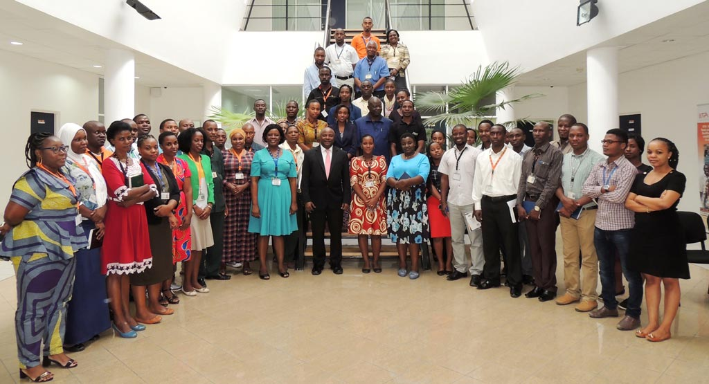 Picture of the DG and IITA staff at the East Africa hub office in Dar es Salaam, Tanzania.