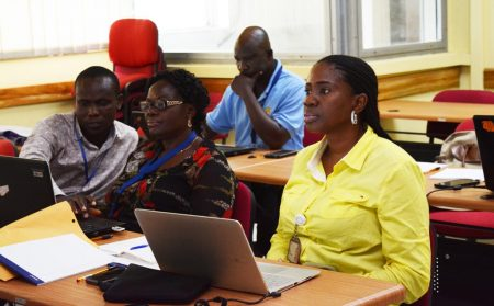 Picture of participants learning how to make good presentations using PowerPoint is a basic skill in the workplace today.