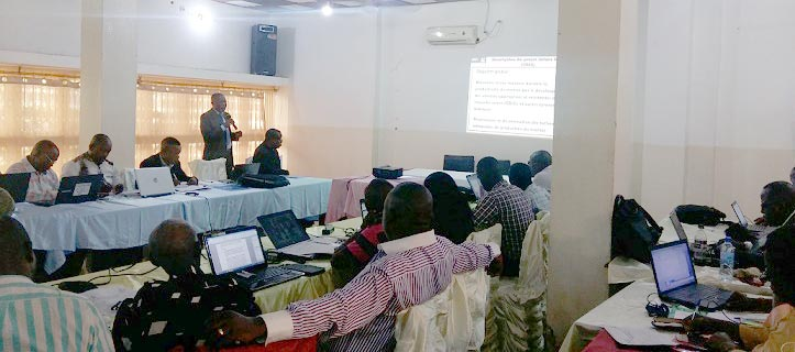 Picture of Dr Nzola Mahungu, IITA DRC Country Representative, explaining the workshop objectives.