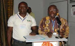 Picture of IITA Benin colleagues at the BIMAF training.