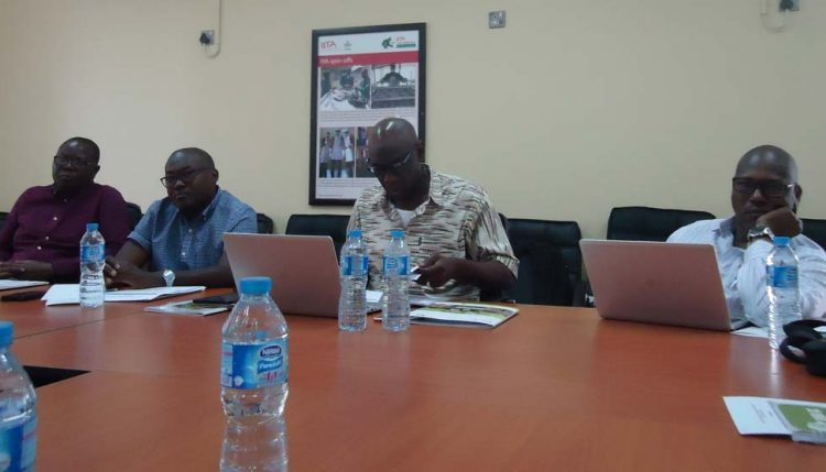 Picture of AfDB officials at the supervision presentation.