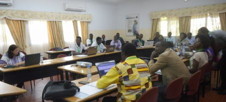 Picture of Dr Wright (first from left) and other stakeholders during the workshop.