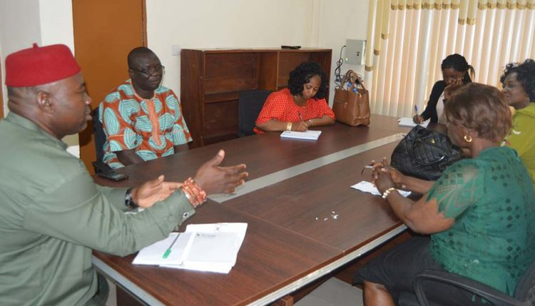 Picture of Dr Okechukwu with the NEPC delegates.