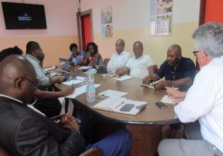 Picture of participants met at the IITA Board Room in Cameroon.