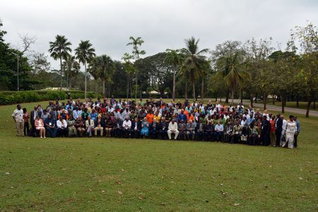 Group photo of IITA50 science conference participants.
